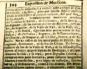 Pàgina del llibre de Fonseca on parla dels moriscos d'Olocau. Roma 1618.