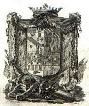 Escut del comte Dídac de Fenollet i Vallterra de Blanes.