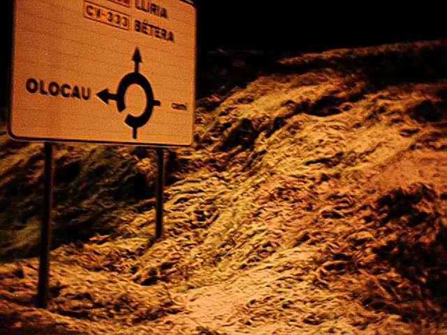 carril per a bicicletes la nit del 15-12-2001